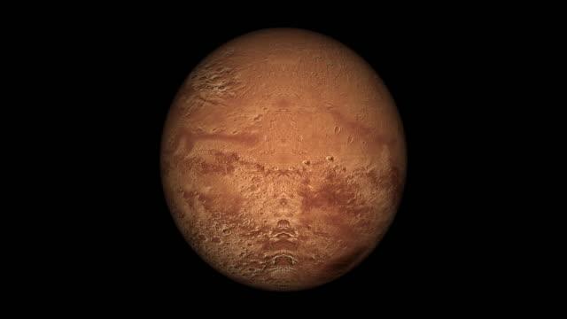 Mars spin loopbare geïsoleerde met luma matte