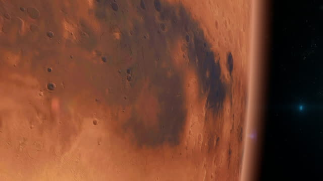 mars surface seen from space - mars planet stock videos & royalty-free footage
