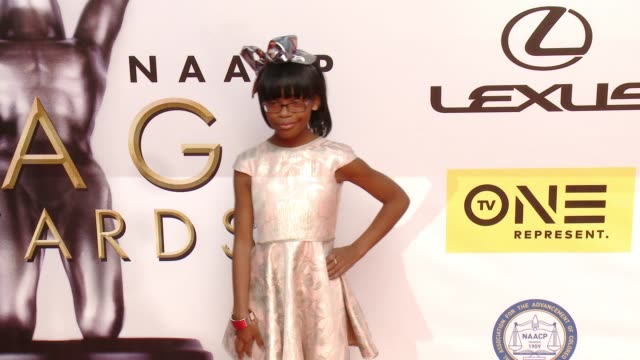 marsai martin at 47th annual naacp image awards at pasadena civic auditorium on february 05 2016 in pasadena california - pasadena civic auditorium stock-videos und b-roll-filmmaterial