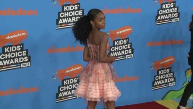 marsai martin at the nickelodeon's 2018 kids' choice awards at the forum on march 24 2018 in inglewood california - 31st annual nickelodeon kids' choice awards stock videos and b-roll footage