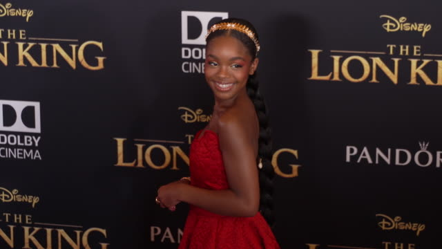 Marsai Martin at the World Premiere of Disney's The Lion King at Dolby Theatre on July 09 2019 in Hollywood California