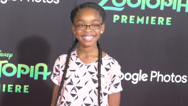 vidéos et rushes de marsai martin at the zootopia premiere at el capitan theatre in hollywood at celebrity sightings in los angeles on february 17 2016 in los angeles... - cinéma el capitan