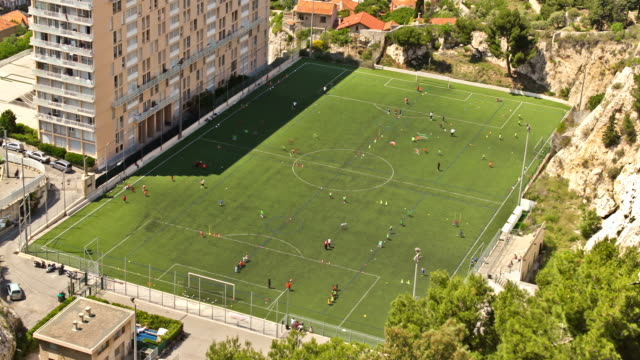 marseille soccer field - football pitch stock videos and b-roll footage
