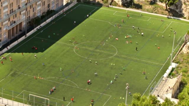 marseille soccer field zoom - goalkeeper stock videos & royalty-free footage