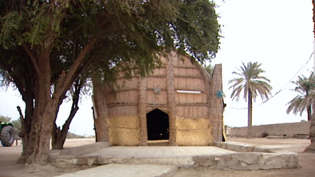 marsh arab mudhif or guesthouse. view of a mudhif, a marsh arab guesthouse, made from berdi reed bundles. - reed grass family stock videos & royalty-free footage