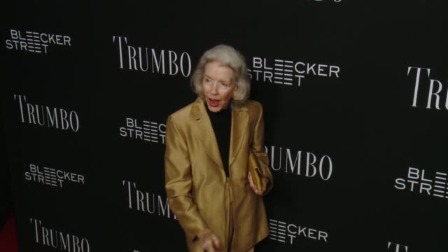 marsha hunt at the trumbo los angeles premiere at the academy of motion picture arts and sciences on october 27 2015 in beverly hills california - academy of motion picture arts and sciences stock-videos und b-roll-filmmaterial