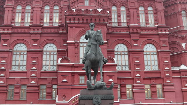 Marshal Zhukov monument, monument to moscow