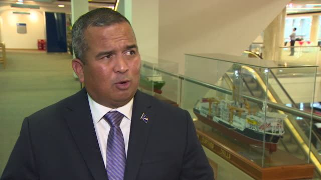 marshall islands environmental minister david paul saying climate change needs to take priority over economic development and profit - pacific islands stock videos & royalty-free footage