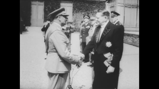 marshall josip broz tito arrives in paris by train for state visit with his wife jovanka broz / shakes hands with various government officials on... - state visit stock videos & royalty-free footage