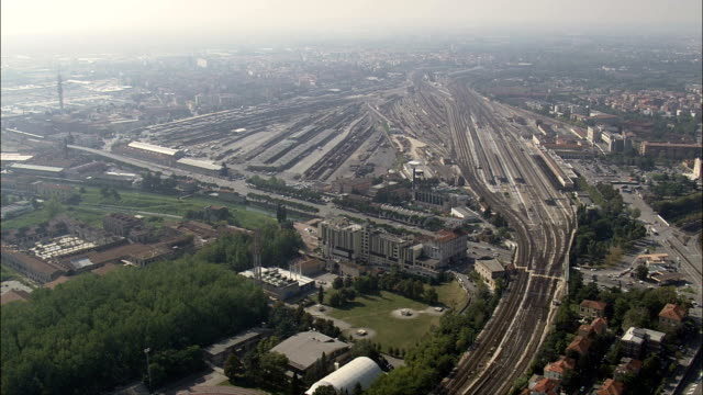 Marshalling yard Verona - Aerial View - Lombardy, Province of Mantua, Mantova, Italy
