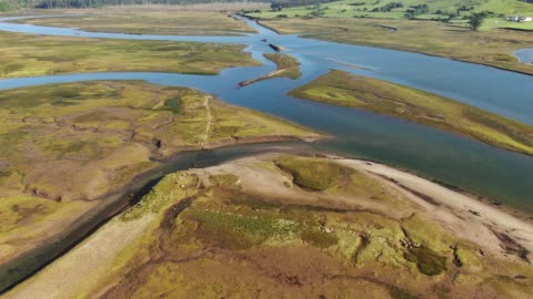 marshlands from above - marsh stock videos & royalty-free footage