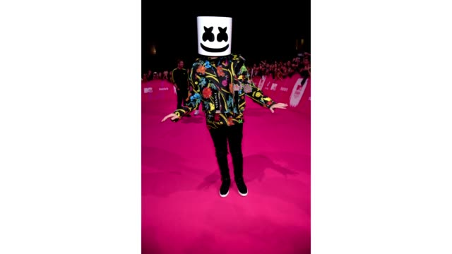 marshmello attends the mtv emas 2018 on november 4, 2018 in bilbao, spain. - mtv europe music awards stock videos & royalty-free footage