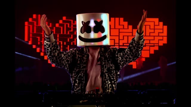 Marshmello performs onstage during We Can Survive A Radiocom Event at The Hollywood Bowl on October 20 2018 in Los Angeles California