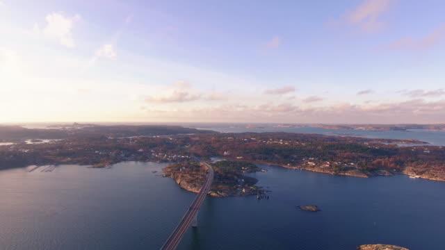Marstrand bei Sonnenuntergang
