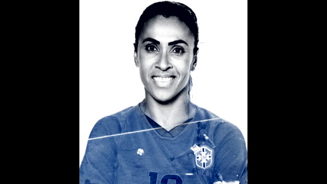 marta of brazil poses for a portrait during the official fifa women's world cup 2019 portrait session at grand hotel uriage on june 06 2019 in... - grenoble stock-videos und b-roll-filmmaterial