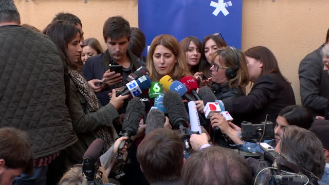 Marta Pascal of the European Democratic Party saying she does not know where Carles Puigdemont is
