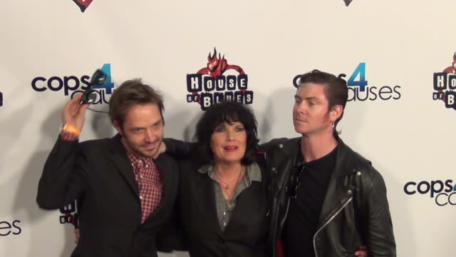 martha davis the motels arriving at cops 4 causes 2nd annual heroes helping heroes benefit concert at house of blues in west hollywood 09/11/13... - benefit concert stock videos and b-roll footage