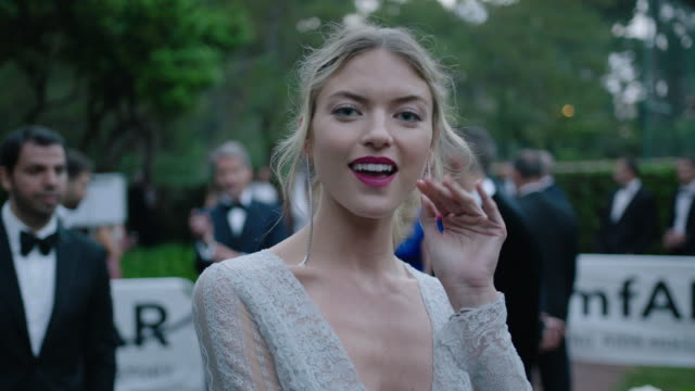 martha hunt at amfar gala cannes 2017 at hotel du capedenroc on may 25 2017 in cap d'antibes france - amfar stock videos & royalty-free footage