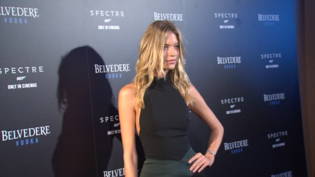 interview martha hunt discusses her dream of being a bond girl at belvedere vodka celebrates partnership with spectre at one world observatory at one... - bond girl fictional character stock videos & royalty-free footage