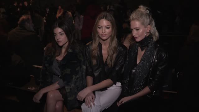 Martha Hunt Poppy Delevingne Julia Restoin Roitfeld Son Naeun Ashley Murray and more at the Zadig et Voltaire Ready to Wear Fall Winter 2018 Fashion...