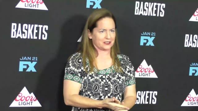 vídeos y material grabado en eventos de stock de martha kelly at the baskets on fx premiere at pacific design center in west hollywood in celebrity sightings in los angeles - pacific design center