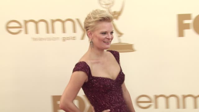 martha plimpton at the 63rd primetime emmy awards arrivals part 2 at los angeles ca - 63rd annual primetime emmy awards stock videos and b-roll footage