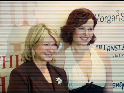martha stewart and geena davis at the white house projects 2006 epic awards honoring outstanding efforts to promote images of powerful women in pop... - martha stewart stock videos & royalty-free footage