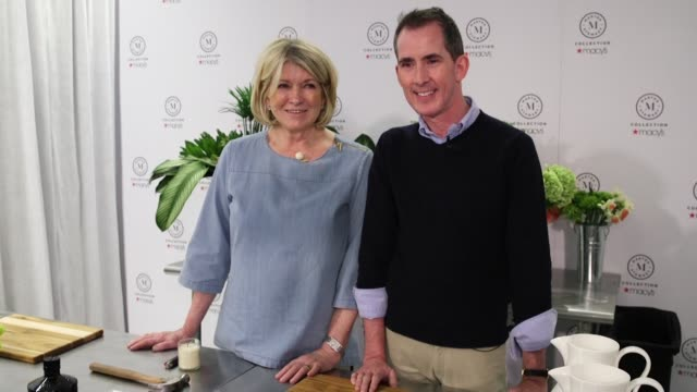 "martha stewart and kevin sharkey at martha stewart signs copies of her new book ""martha's flowers"" at macys herald square on april 05, 2018 in new... - martha stewart stock videos & royalty-free footage"
