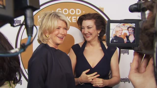 martha stewart and rosemary ellis at the good housekeeping's 'shine on' 125 years of women making their mark at new york ny. - martha stewart stock videos & royalty-free footage