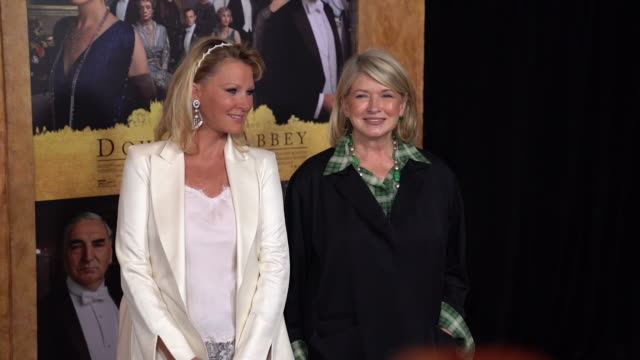 "martha stewart and sandra lee at ""downton abbey"" new york premiere at alice tully hall on september 16, 2019 in new york city. - martha stewart stock videos & royalty-free footage"