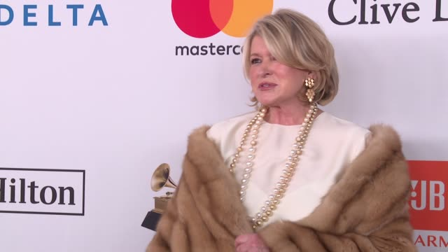 martha stewart at clive davis pre-grammy gala at sheraton times square on january 27, 2018 in new york city. - martha stewart stock videos & royalty-free footage