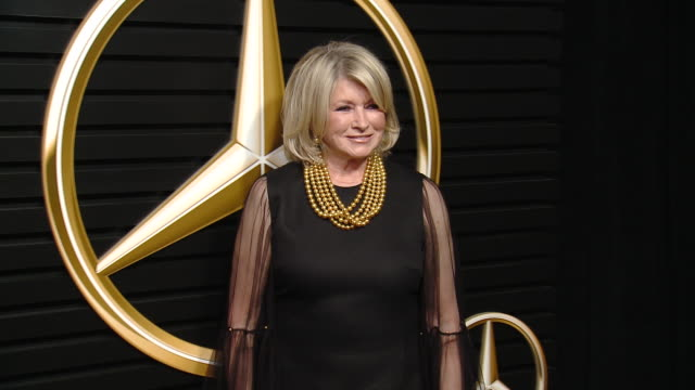 martha stewart at mercedes-benz annual academy awards viewing party at four seasons los angeles at beverly hills on february 09, 2020 in los angeles,... - martha stewart stock videos & royalty-free footage