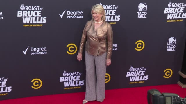 martha stewart at the comedy central roast of bruce willis at hollywood palladium on july 14, 2018 in los angeles, california. - martha stewart stock videos & royalty-free footage