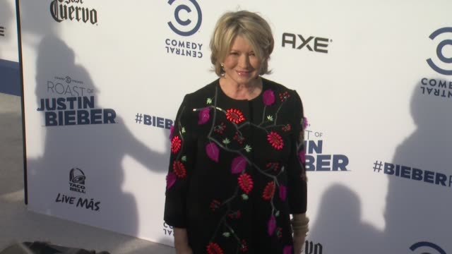 martha stewart at the comedy central roast of justin bieber at sony studios on march 14 2015 in los angeles california - martha stewart stock videos & royalty-free footage