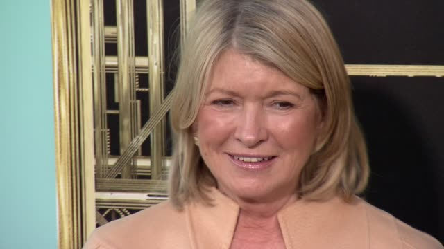 "martha stewart at ""the great gatsby"" world premiere at avery fisher hall at lincoln center for the performing arts on may 01, 2013 in new york, new... - martha stewart stock videos & royalty-free footage"