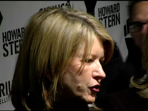martha stewart at the howard stern last day live event arrivals and inside at hard rock cafe in new york, new york on december 16, 2005. - martha stewart stock videos & royalty-free footage
