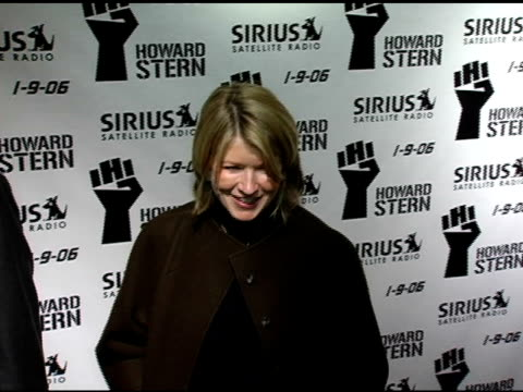 martha stewart at the howard stern last day live event arrivals and inside at hard rock cafe in new york new york on december 16 2005 - hard rock cafe stock videos & royalty-free footage