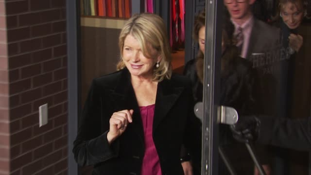 martha stewart at the opening of first hermes men's store on madison avenue in new york at new york ny. - martha stewart stock videos & royalty-free footage