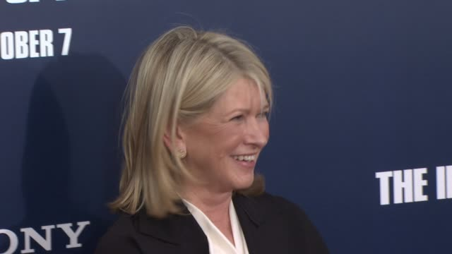martha stewart at the 'the ides of march' new york premiere red carpet at new york ny - martha stewart stock videos & royalty-free footage