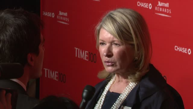 martha stewart at the time 100 gala time's 100 most influential people in the world at new york ny - martha stewart stock videos & royalty-free footage