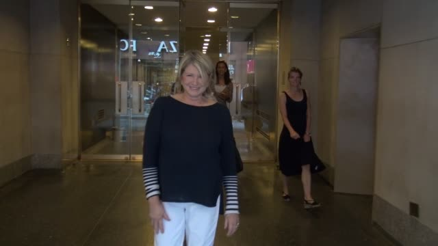 martha stewart exits the today show in rockefeller center and greets fans celebrity sightings in new york on july 02 2014 in new york city - martha stewart stock videos & royalty-free footage
