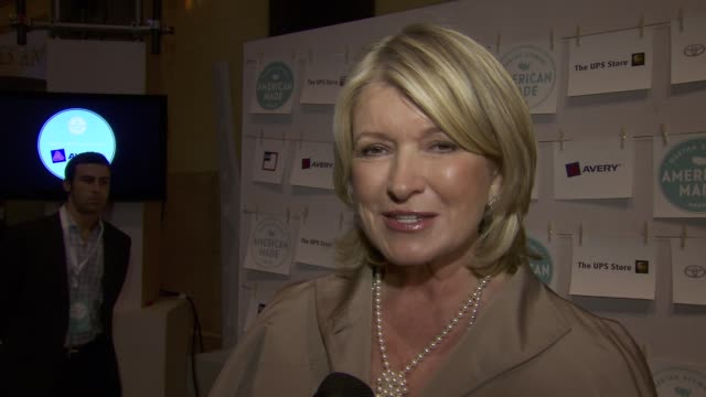 martha stewart introduces american made at martha stewart transforms grand central terminal into multimedia celebration of american artists, artisans... - martha stewart stock videos & royalty-free footage