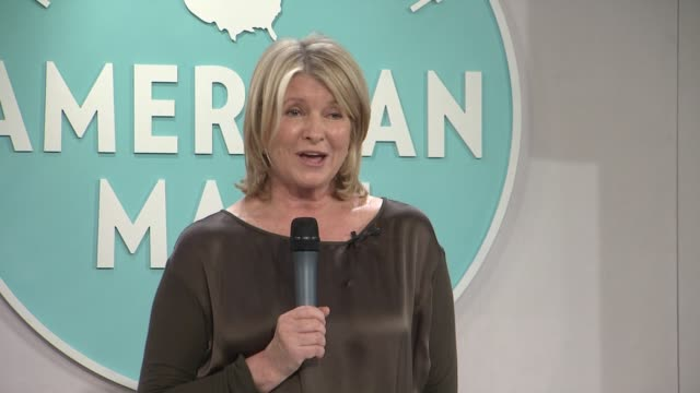 martha stewart introduces calvin klein at martha stewart's american made program, grand central terminal, nyc at vanderbilt hall at grand central... - martha stewart stock videos & royalty-free footage