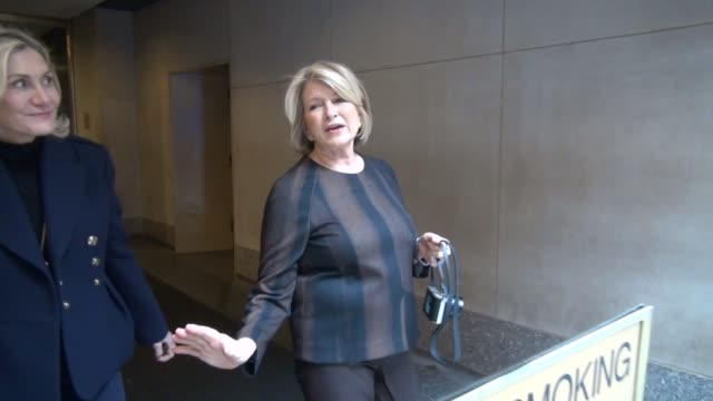 martha stewart leaves the today show, poses for photo with a fan in celebrity sightings in new york, - martha stewart stock videos & royalty-free footage