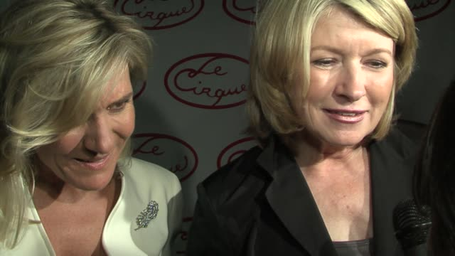 martha stewart on le cirque and the identity of her favorite food at the opening party for le cirque at le cirque in new york, new york on may 18,... - martha stewart stock videos & royalty-free footage