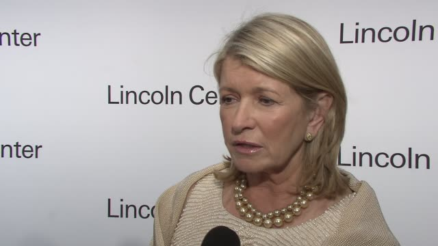 martha stewart on progress in the medical field and ralph lauren's contribution at the lincoln center presents: an evening with ralph lauren hosted... - martha stewart stock videos & royalty-free footage