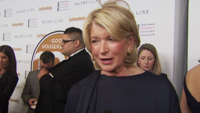martha stewart on what good housekeeping means to her and always having it around her house growing up. at the good housekeeping's 'shine on' 125... - martha stewart stock videos & royalty-free footage