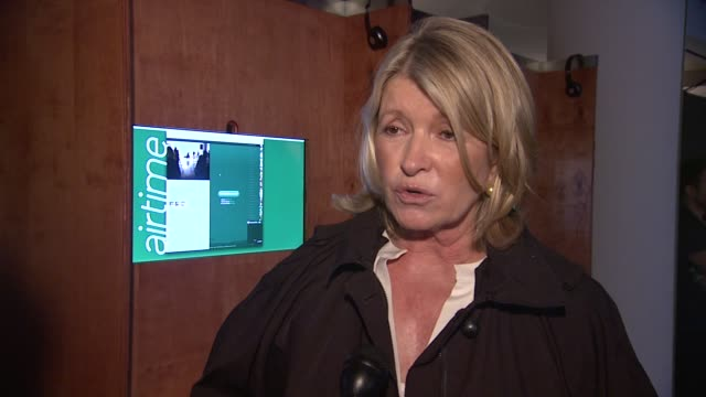 martha stewart on why she's out today. on seeing airtime, on what she likes about it. on how she usually loves to talk on the phone, on how this... - martha stewart stock videos & royalty-free footage