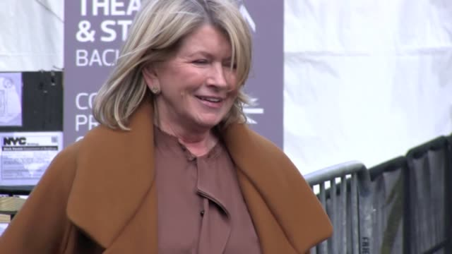 martha stewart outside mercedes-benz fashion week. martha stewart outside mercedes-benz fashion week. on february 12, 2013 in new york, new york - martha stewart stock videos & royalty-free footage