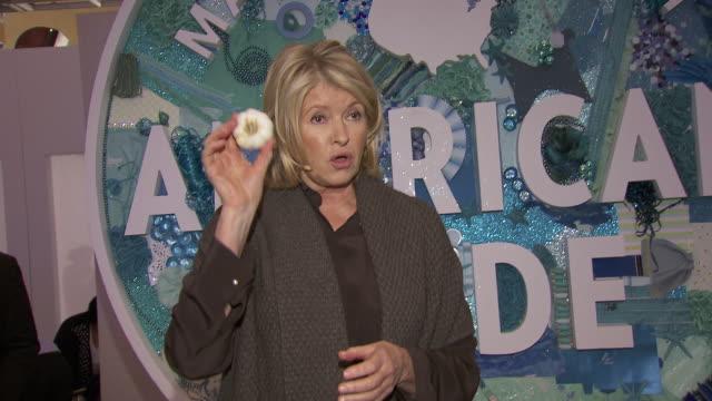 Martha Stewart shows how to peel garlic at Martha Stewart Transforms Grand Central Terminal Into Multimedia Celebration of American Artists Artisans...